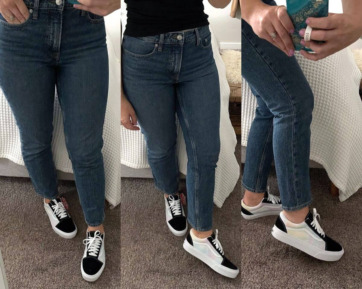 NSale Casual Outfit: blue jeans + Vans tie-dye sneakers