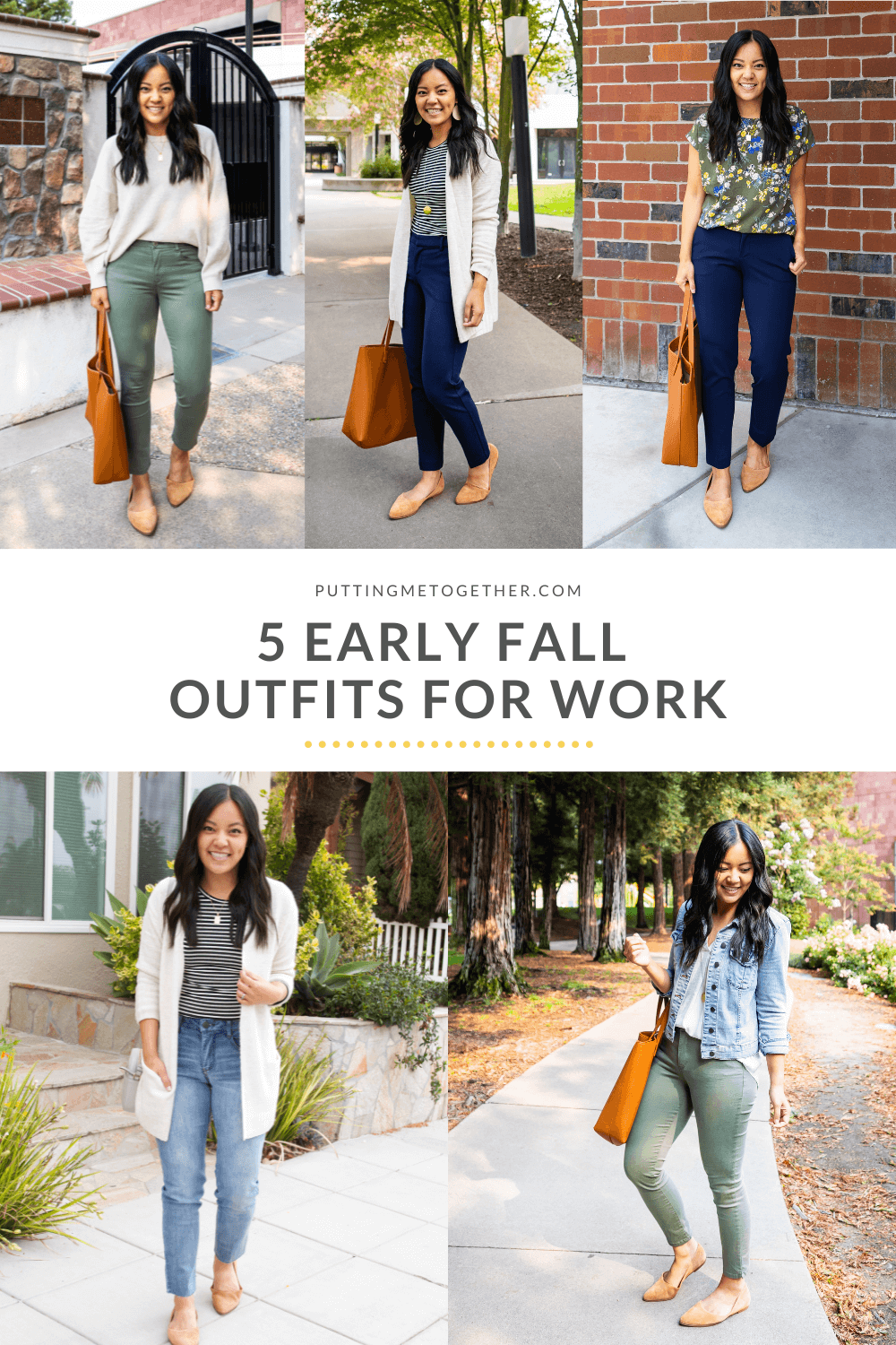 5 Early Fall Outfits for Work