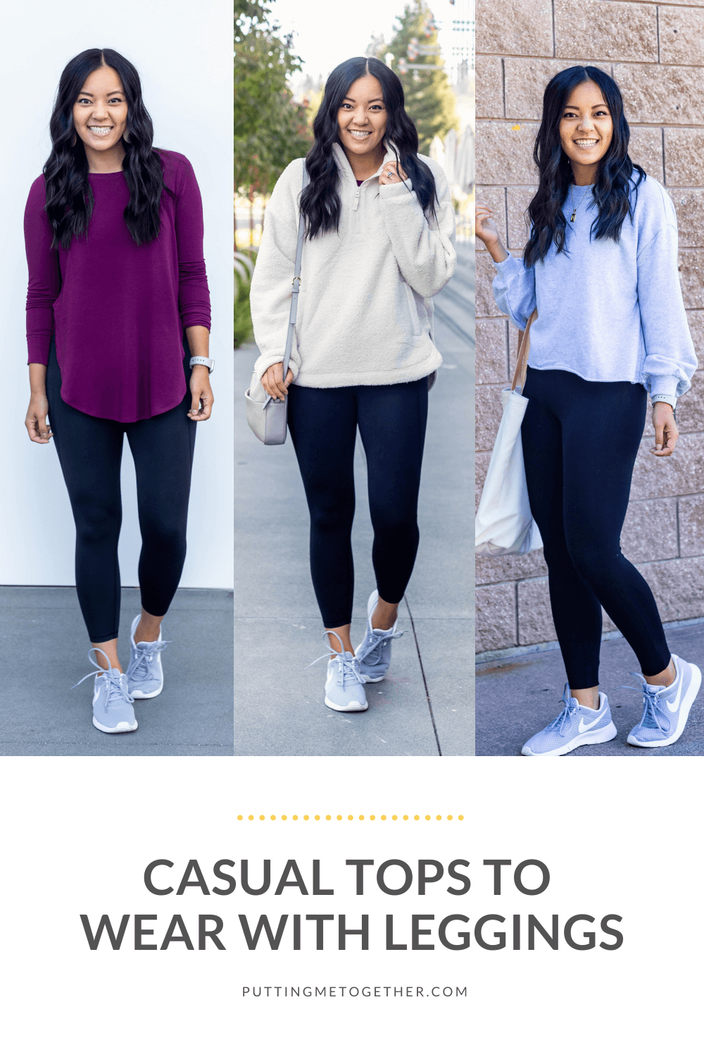 Casual Fall Tops to Wear With Leggings