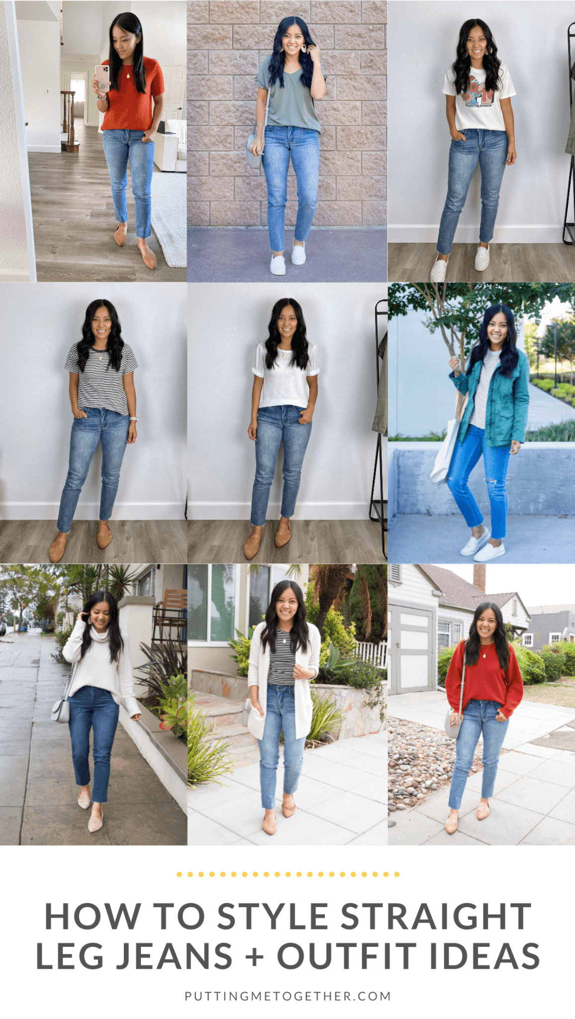 How to Style Straight Leg Jeans